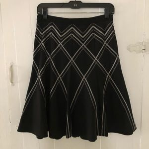 The Limited black skirt with ribbon detail 0